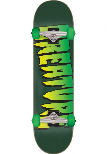 Creature Skateboard komplett Logo Full green vorderansicht 0162416