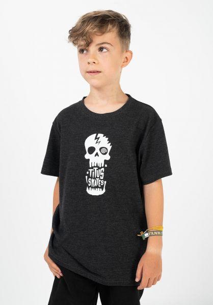 TITUS T-Shirts Tamaro Kids darkgreymottled vorderansicht 0321017