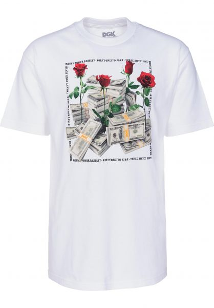 DGK T-Shirts Stacks white Vorderansicht