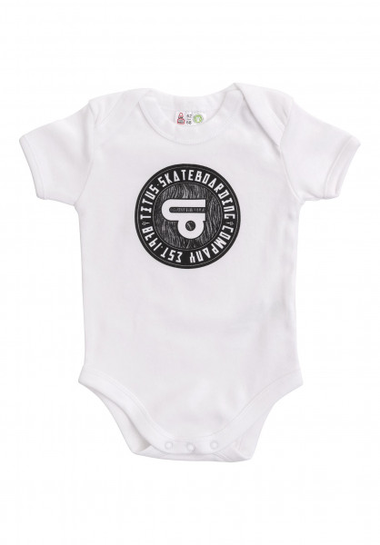 TITUS T-Shirts Circled Body Organic Mini white Vorderansicht