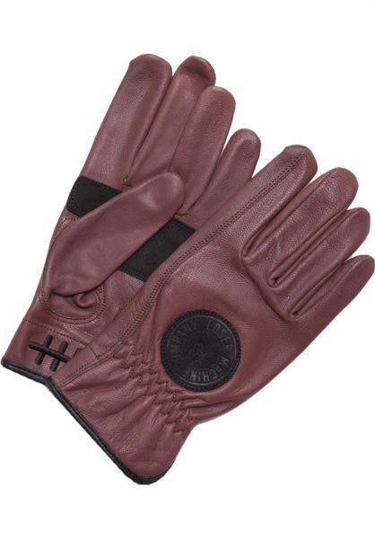 Loser-Machine Handschuhe Deathgrip oxblood Vorderansicht