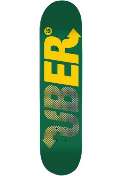 ÜBER Skateboard Decks Way green-yellow-blue vorderansicht 0261917