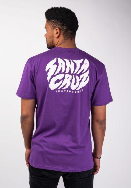 Santa-Cruz T-Shirts Surge purple vorderansicht 0399800