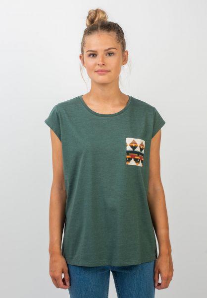 TITUS T-Shirts Kimi petrolmottled vorderansicht 0396515