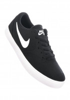 Nike SB Alle Schuhe Check Solarsoft Canvas GS black-white Vorderansicht