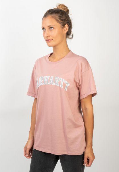 Carhartt WIP T-Shirts W´ S/S Princeton blush vorderansicht 0399986