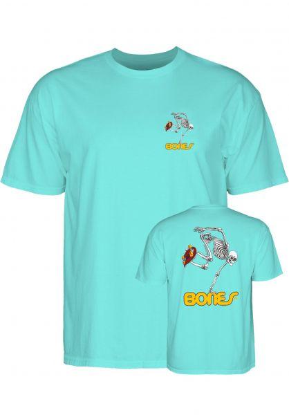 Powell-Peralta T-Shirts Skateboard Skeleton celadon Vorderansicht