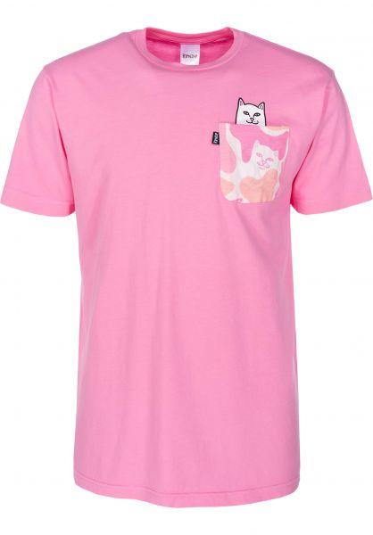 0b06a4d34e Rip N Dip T-Shirts Lord Nermal Pocket pink-camo vorderansicht 0393476