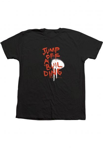 Toy-Machine T-Shirts Jump off a Building black vorderansicht 0322130