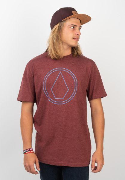 Volcom T-Shirts Pin Stone crimson-blue vorderansicht 0399848