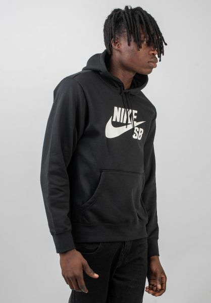 Nike SB Hoodies SB Icon black-white vorderansicht 0444154