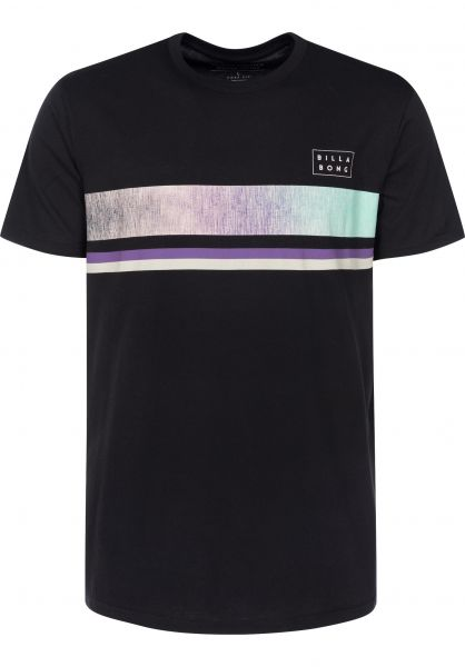 Billabong T-Shirts Team Stripe black Vorderansicht