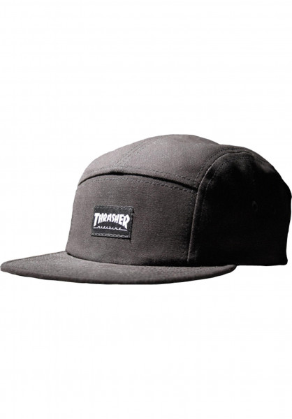 Thrasher Caps 5-Panel-Thrasher black Vorderansicht