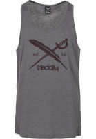 iriedaily Tank-Tops Daily Flag charcoalmelange Vorderansicht