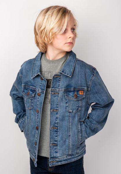 TITUS Übergangsjacken Gunnar Kids blue-vintage vorderansicht 0504327