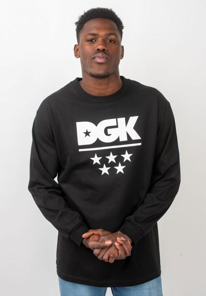 DGK Longsleeves All Star black vorderansicht 0383462