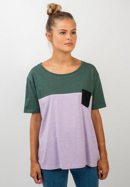 TITUS T-Shirts Grisi petrolmottled-lavender vorderansicht 0399292