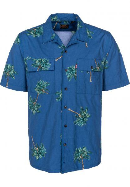 Levis Skate Hemden kurzarm SS Button Down watercolor-palmbrightcobalt vorderansicht 0400804
