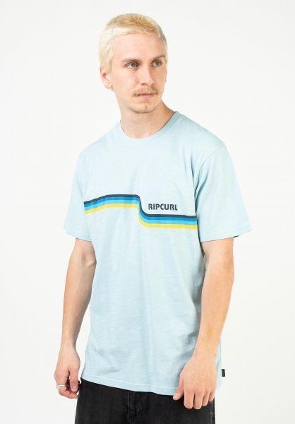 Rip Curl T-Shirts Surf Revival lightblue vorderansicht 0323556