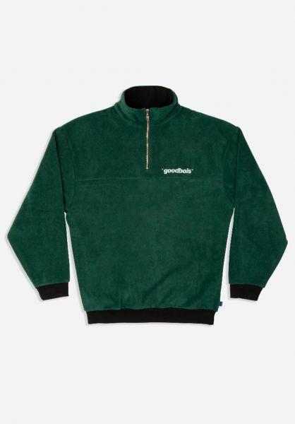 Goodbois Sweatshirts und Pullover Official Fleece Half Zip Crewneck forest vorderansicht 0422789
