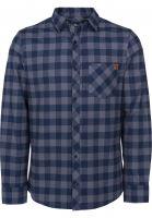 TITUS Hemden langarm Adam navy-grey-checked Vorderansicht