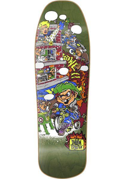 New-Deal Skateboard Decks Andy Howell Tricycle Kid Heattransfer green vorderansicht 0262735