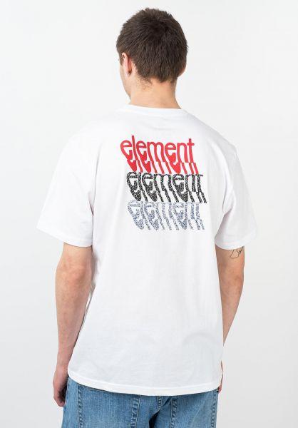 Element T-Shirts Stiles opticwhite vorderansicht 0321669