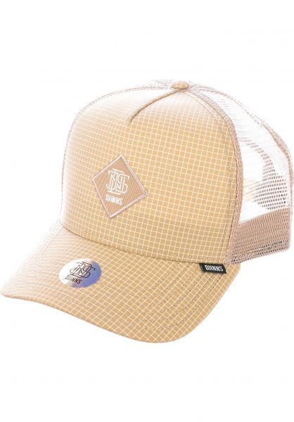 Djinns Caps Trucker Cap HFT Needle Check 2020 khaki vorderansicht 0566954