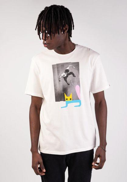 Element T-Shirts Freditano Jaakko Cat offwhite vorderansicht 0399835