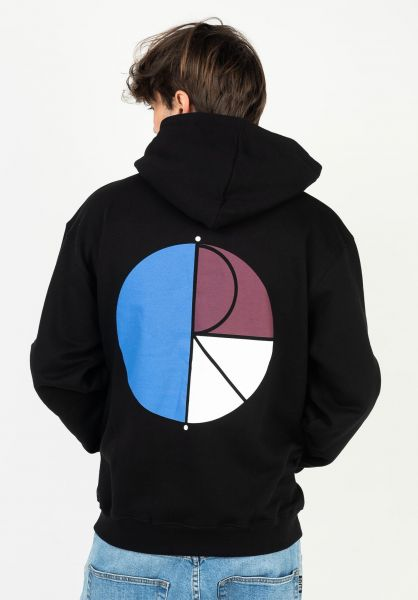 Polar Skate Co Hoodies 3 Tone Fill Logo black vorderansicht 0446223