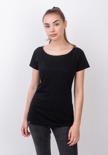 TITUS T-Shirts Essential Raglan Tee Girls black vorderansicht 0399219