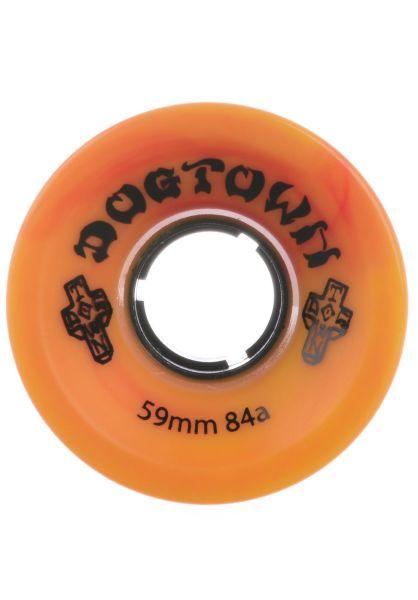 Dogtown Rollen DT Mini Cruiser 84A yellow-red swirl vorderansicht 0132719