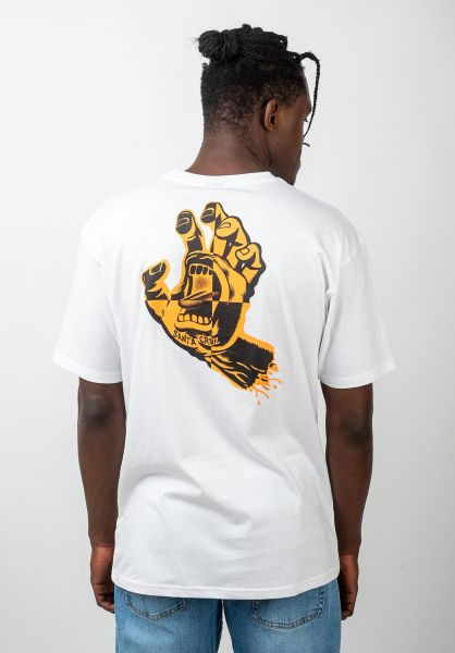 Santa-Cruz T-Shirts Crash Hand white vorderansicht 0320431