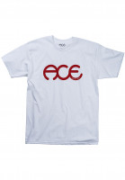 Ace T-Shirts Rings white Vorderansicht