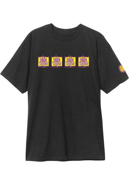 New-Deal T-Shirts Original Napkin 4-Bar black vorderansicht 0320472