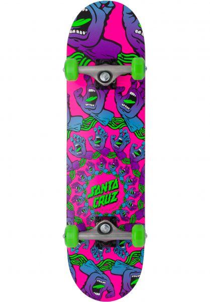 Santa-Cruz Skateboard komplett Mandala Hand Mini pink vorderansicht 0162690