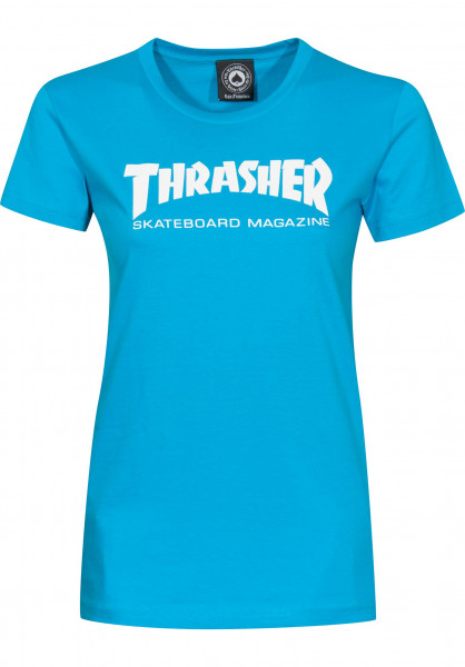 Thrasher T-Shirts Skate Mag Girls teal Vorderansicht