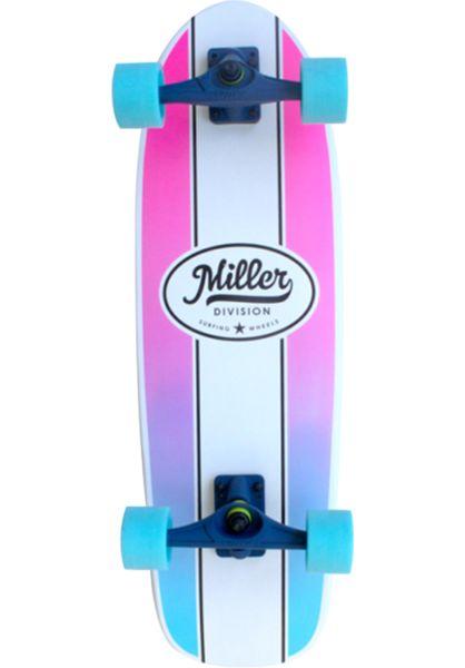 "Miller Division Cruiser komplett Mini Classic Surfskate 29.5"" white-pink-blue vorderansicht 0252752"