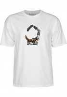 Bones Wheels T-Shirts Scorpion white Vorderansicht