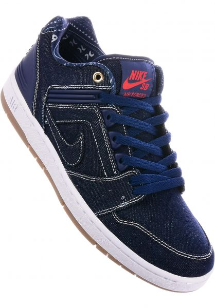 Nike SB Alle Schuhe Air Force II Low QS binaryblue-white Vorderansicht