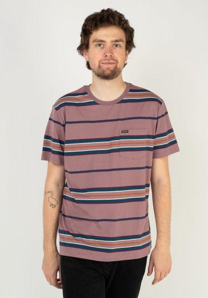 Brixton T-Shirts Hilt Pocket washedconcord vorderansicht 0399858