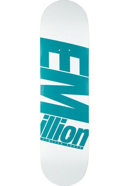 EMillion Skateboard Decks Limited Shape | Reversed Print teal vorderansicht 0265486