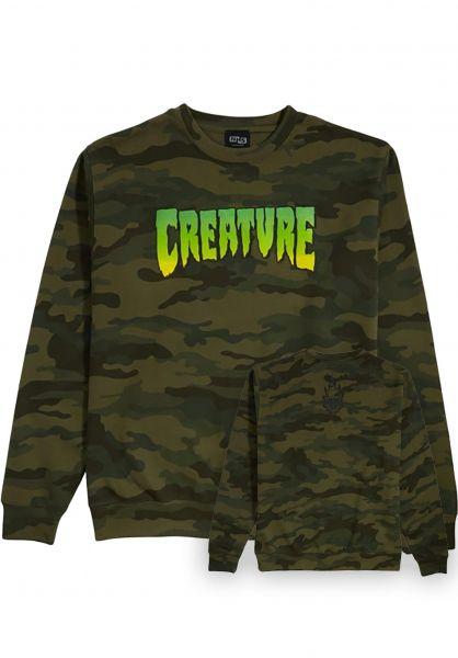Creature Sweatshirts und Pullover Logo forest-camo vorderansicht 0421600