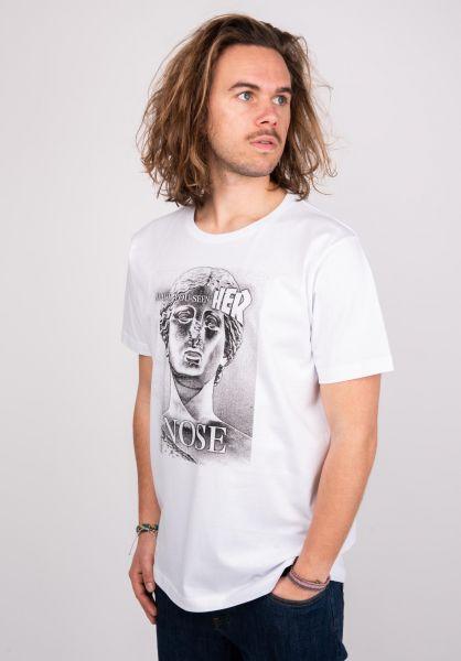 Makia T-Shirts Baldessari white vorderansicht 0383353