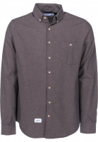 Reell-Hemden-langarm-Brushed-Shirt-blue-grey-Vorderansicht
