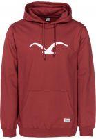 cleptomanicx-hoodies-moewe-merlotred-white-vorderansicht-0440778