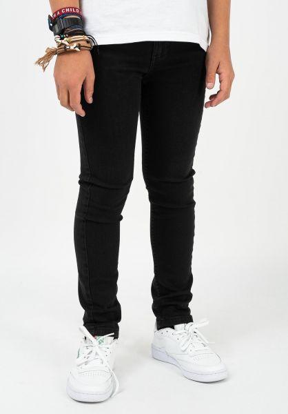 TITUS Hosen und Jeans Tube Fit Kids black-black vorderansicht 0540901