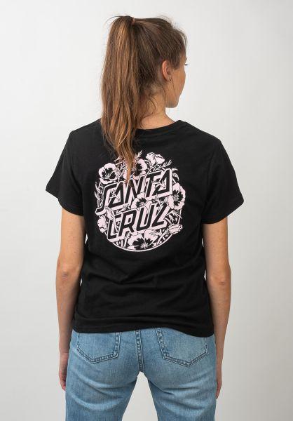 Santa-Cruz T-Shirts Cali Poppy black vorderansicht 0320355