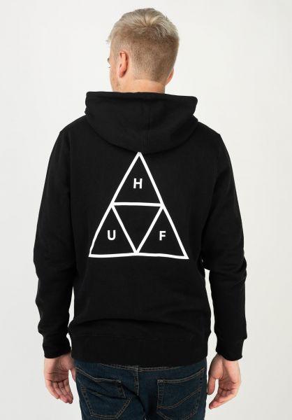 HUF Hoodies Triple Triangle black vorderansicht 0443406