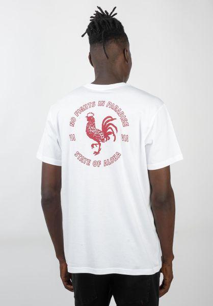 RVCA T-Shirts No Fight white vorderansicht 0320561